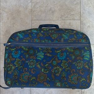 Lingerie bags vintage 1970s travel bags 2 vibrant floral spring bags